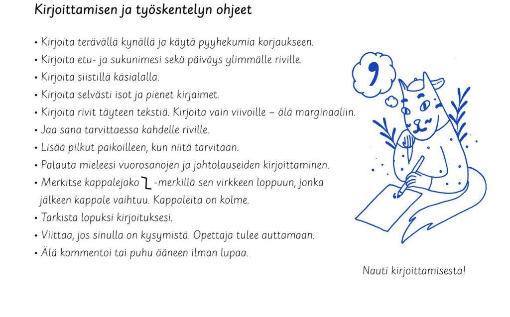 5. Luokka kirjoitusohjeet kuva